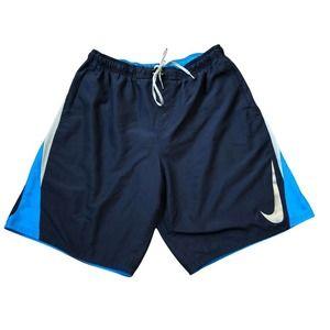 Nike Shorts XXL Blue Mesh Side Lined Pockets